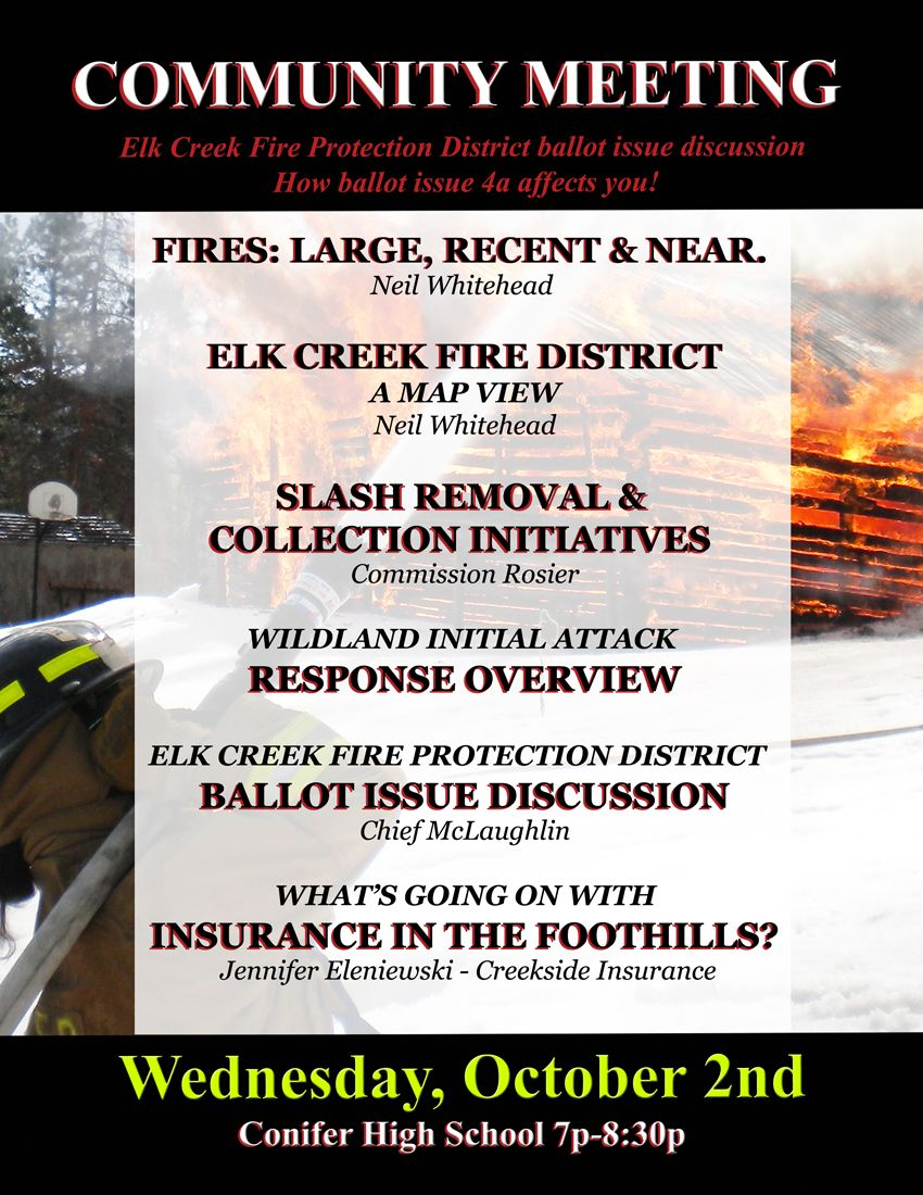 Friends of Elk Creek Fire Community Meeting Flyer